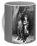 Red Riding Hood Meets Old Father Wolf Coffee Mug