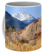 Red Rock And Pikes Peak Coffee Mug
