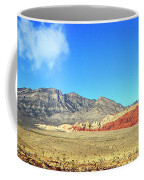 Red Rocks Nevada Panorama Coffee Mug
