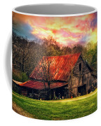 Red Roof At Sunset Coffee Mug