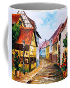 Red Roof - Palette Knife Oil Painting On Canvas By Leonid Afremov Coffee Mug