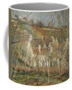 Red Roofs, Corner Of A Village, Winter Coffee Mug