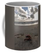 Red Rope On The Beach Coffee Mug