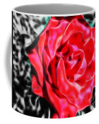 Red Rose Fractal Coffee Mug