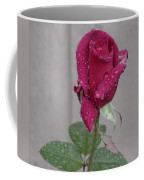 Red Rose In Rain Coffee Mug