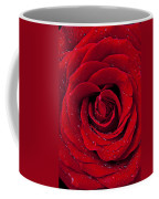 Red Rose With Dew Coffee Mug by Garry Gay