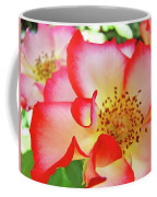 Red Roses White Yellow Rose Flower Floral Art Print Baslee Troutman Coffee Mug