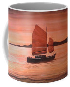 Red Sea With Chinese Boat Coffee Mug