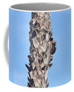 Red Shouldered Hawk On Palm Tree Coffee Mug