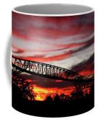 Red Skies At Pleasure Island Bridge Coffee Mug