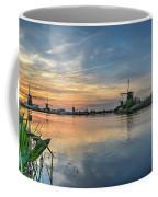 Red Skies Over Kinderdijk Coffee Mug