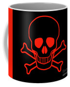 Red Skull And Crossbones Coffee Mug