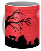 Red Sky Cemetery Coffee Mug