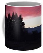 Red Sky Over The Andies Coffee Mug