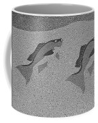 Red Snapper Inlay In Grayscale Coffee Mug