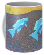 Red Snapper Inlay On Alabama Welcome Center Floor - Color Invert Coffee Mug
