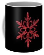 Red Snowflake Ornament Coffee Mug
