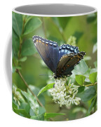 Red-spotted Purple Butterfly On Privet Flowers Coffee Mug