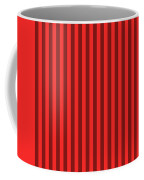 Red Striped Pattern Design Coffee Mug