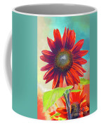 Red Sunflowers At Sundown Coffee Mug