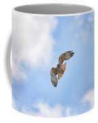 Red Tail Hawk In Blue Skies Coffee Mug