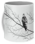 Red-tailed Hawk On Perch Coffee Mug