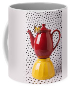 Red Teapot With Butterfly Coffee Mug