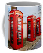 Red Telephone Booths London Coffee Mug