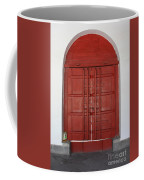 Red Temple Door Coffee Mug