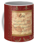 Red Traditional Love Coffee Mug by Debbie DeWitt