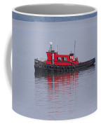 Red Tug On Lake Superior Coffee Mug