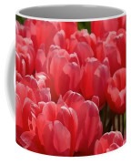Red Tulip Buds Crest The Earth Coffee Mug