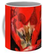 Red Tulip Texture Coffee Mug