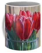 Red Tulips, Glass Rim Coffee Mug