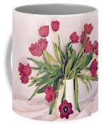 Red Tulips In Full Bloom Coffee Mug