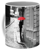 Red Umbrella In London Coffee Mug