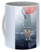 Red Umbrella Coffee Mug by Joana Kruse