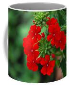 Red Verbana Coffee Mug