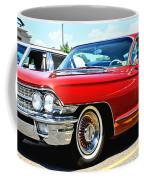 Red Vintage Cadillac Coffee Mug