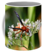 Red Wasp On Lace Coffee Mug