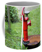 Red Water Pump Coffee Mug