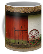 Red Wheel And Barn In Sweden Coffee Mug