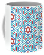 Red White And Blue Fireworks Pattern- Art By Linda Woods Coffee Mug