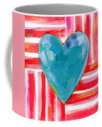 Red White And Blue Love- Art By Linda Woods Coffee Mug