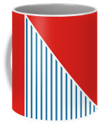 Red White And Blue Triangles 2 Coffee Mug by Linda Woods