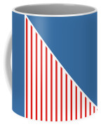 Red White And Blue Triangles Coffee Mug by Linda Woods