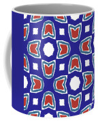 Red White And Blue Tulips Pattern- Art By Linda Woods Coffee Mug