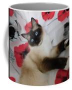 Red White And Ragdoll Kitty Cat Silktapestrykittenstm  Coffee Mug