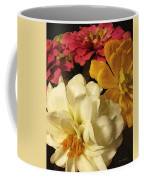Red White And Yellow Zinnias Coffee Mug