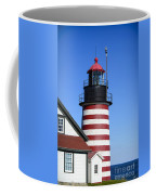 Red White Striped Lighthouse Coffee Mug